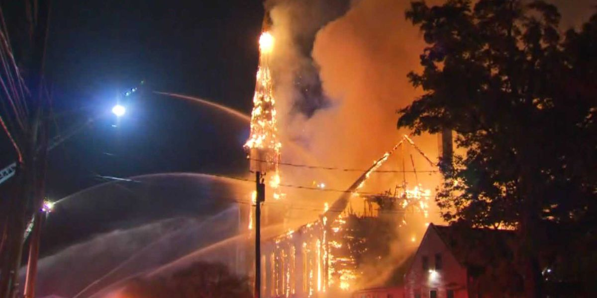 Landmark church destroyed by fire