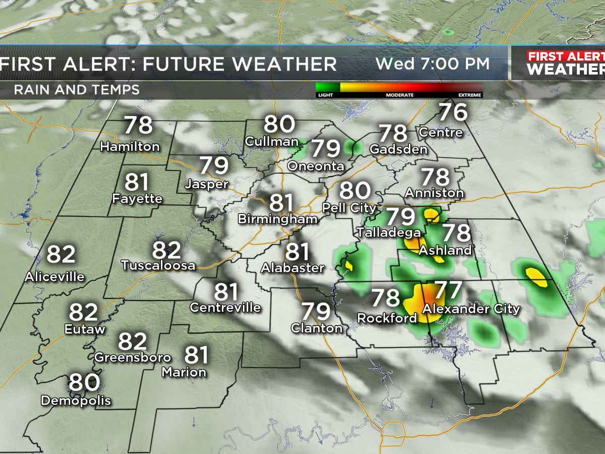 FIRST ALERT: Chance of afternoon storms continues through the weekend
