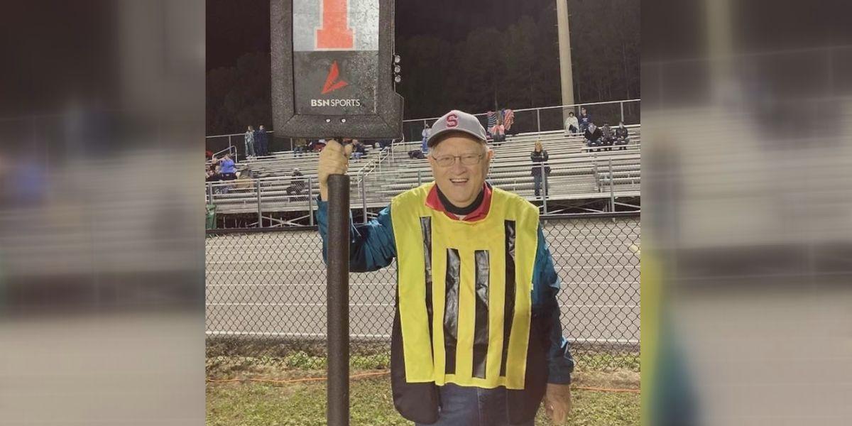 Saks football helps 80-year-old volunteer achieve huge goal