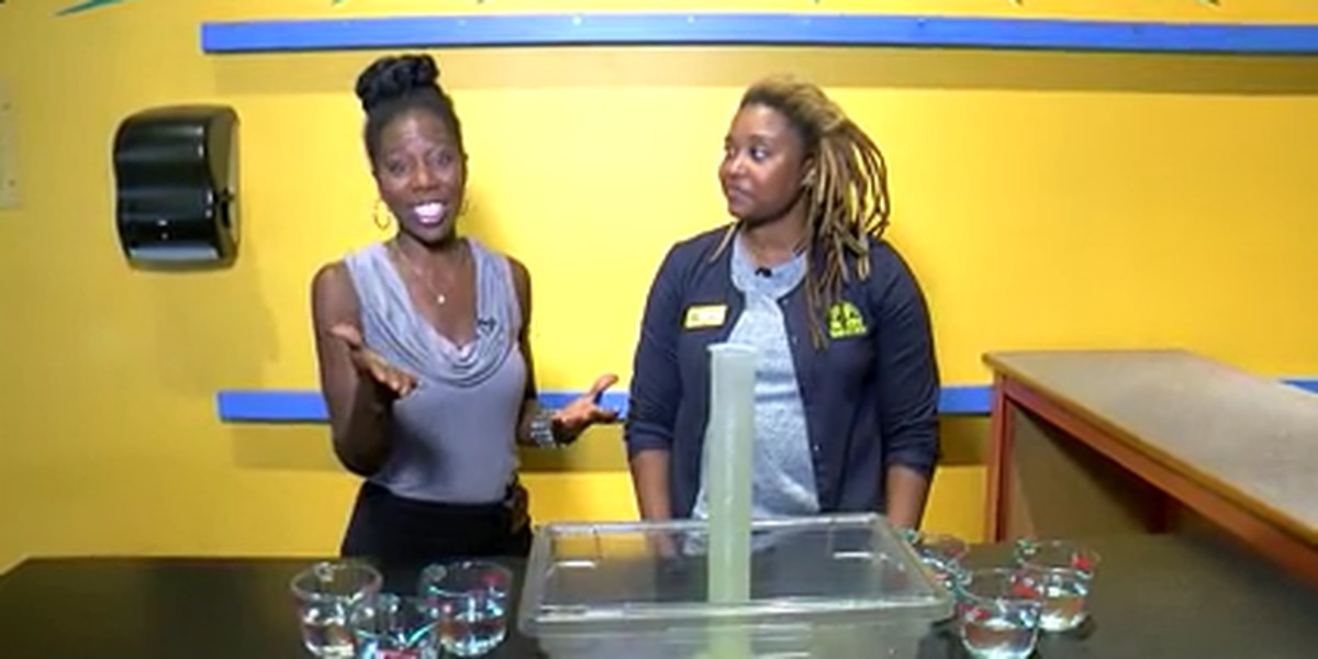 McWane Science Center educator uses creative demonstration to show rain amounts Florence will bring