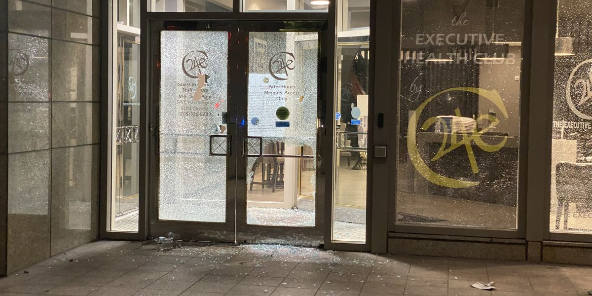 Video, images from Birmingham protests that ended with vandalism, damage