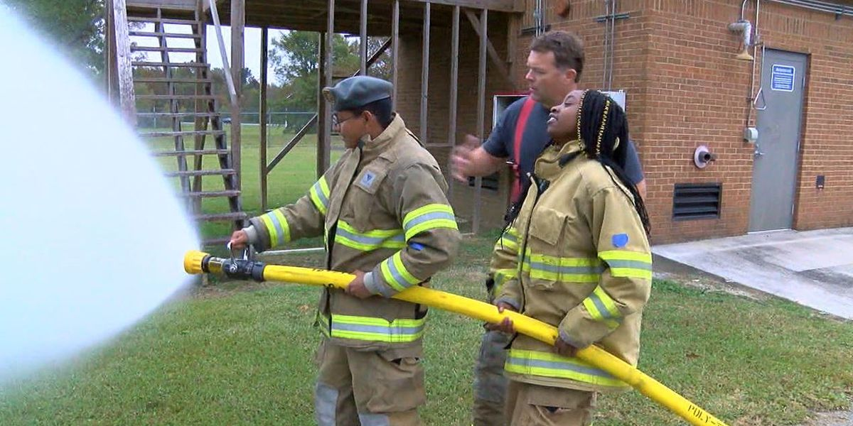Gadsden City students experience life as a firefighter