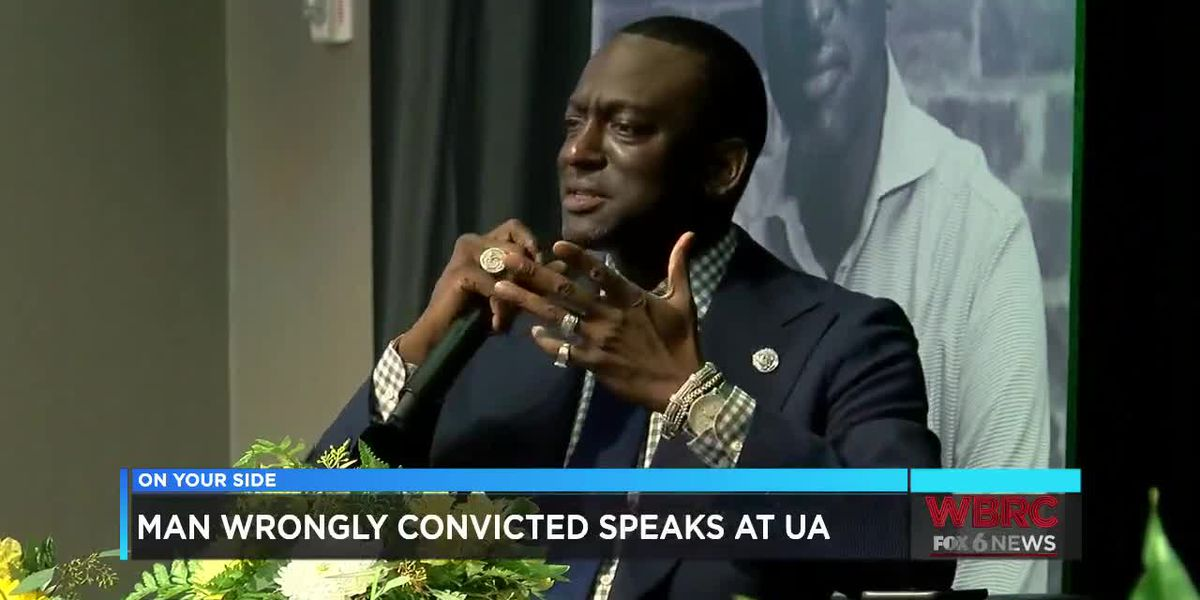 Man wrongly convicted speaks at UA