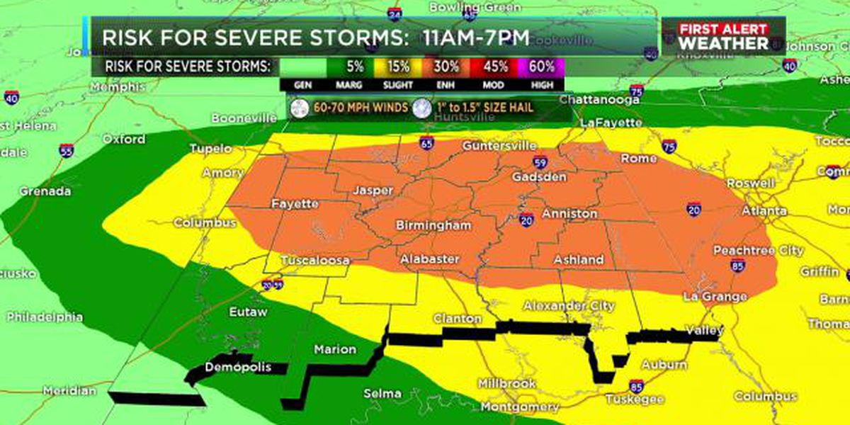 FIRST ALERT: Severe storms likely Friday afternoon