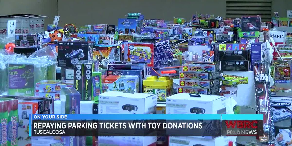 Repaying Tuscaloosa parking tickets with toy donations