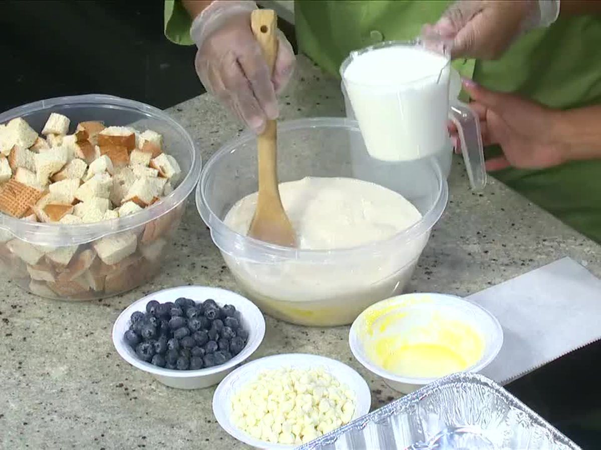 Sharon's Sweets: Blueberry bread pudding
