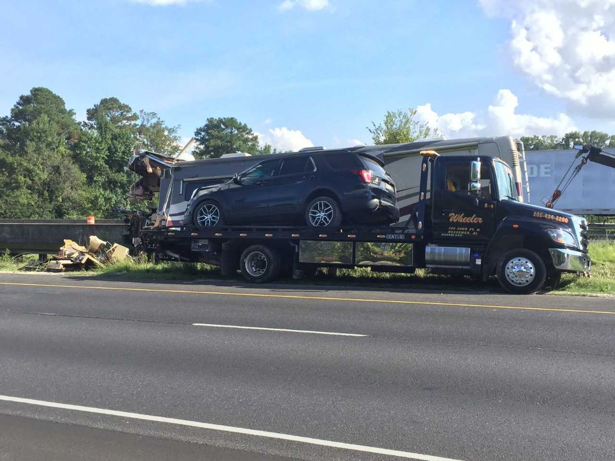 RV accident on I-459 sends 2 people to hospital