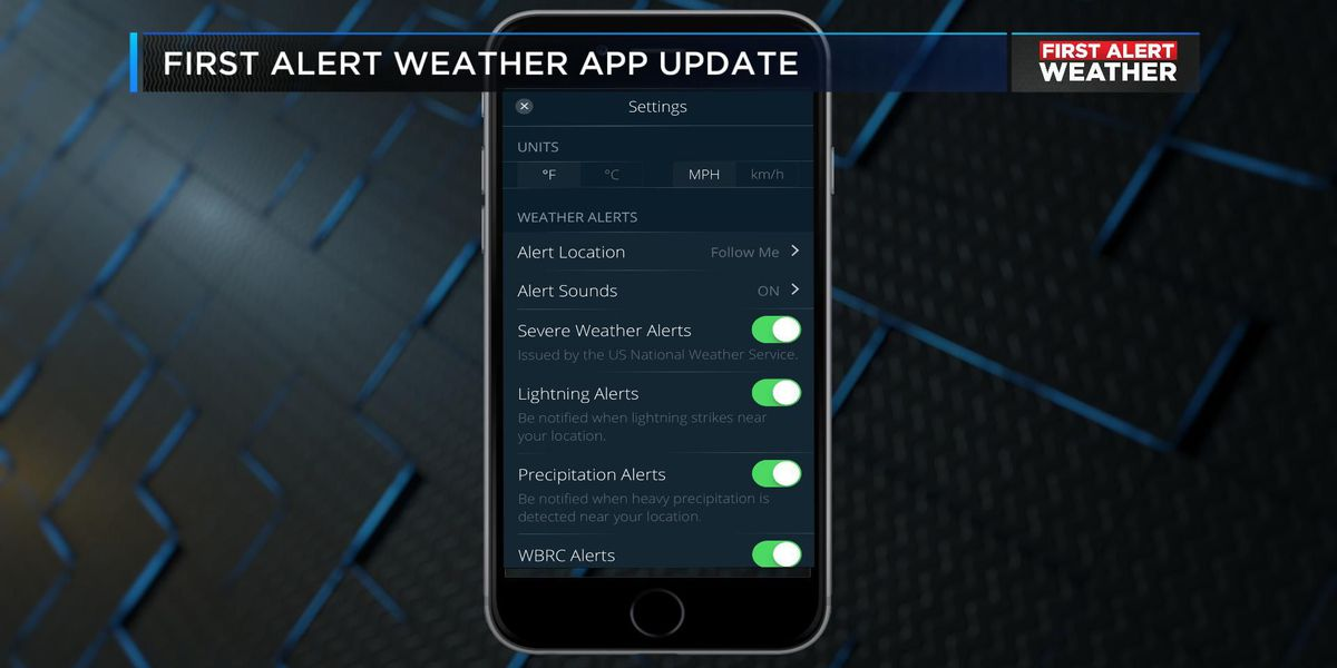 WBRC First Alert Weather app rolls out updated version with new features
