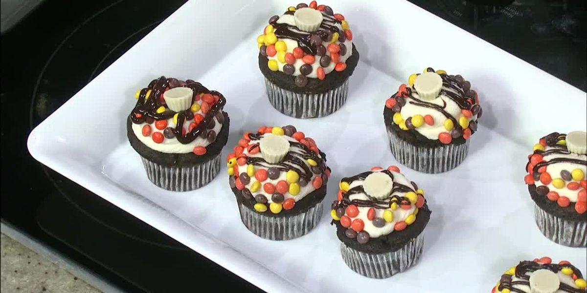 K&J's Elegant Pastries: White Chocolate Peanut Butter Cupcakes