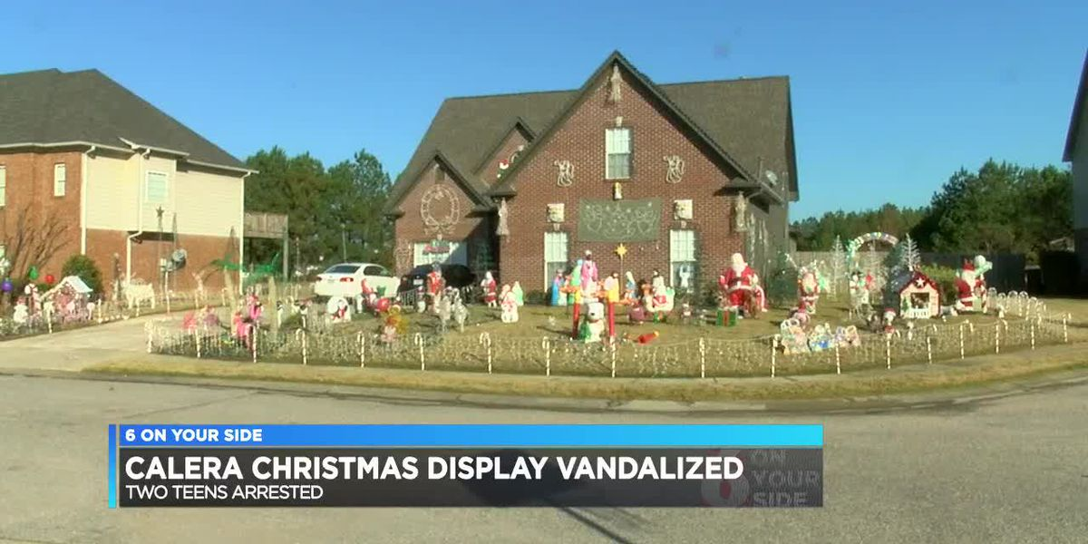 Calera Christmas display vandalized