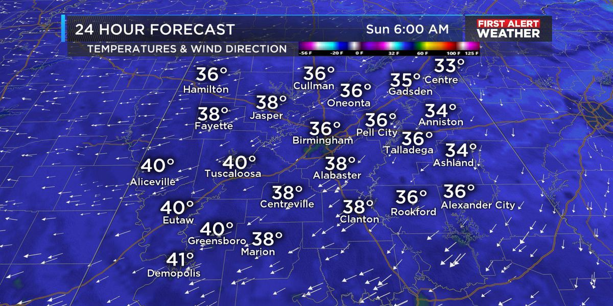 FIRST ALERT Update: More patchy frost overnight, wet weather returns late Monday