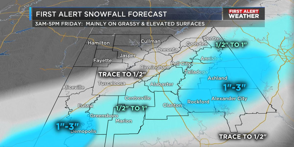 FIRST ALERT Weather Day for snow potential on Friday