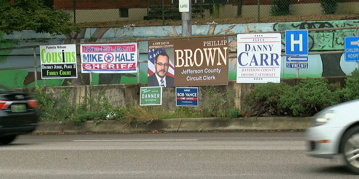 Some campaign signs still up days after election