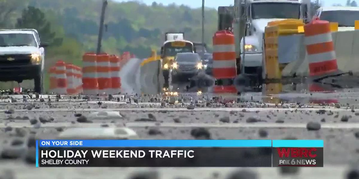 Memorial Day Holiday weekend traffic in Shelby County