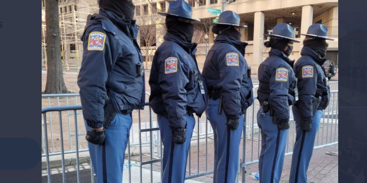 ALEA troopers help with inauguration security
