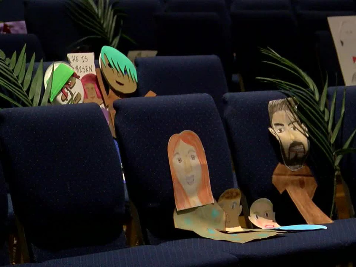 Gardendale church gets creative to fill pews for Palm Sunday service