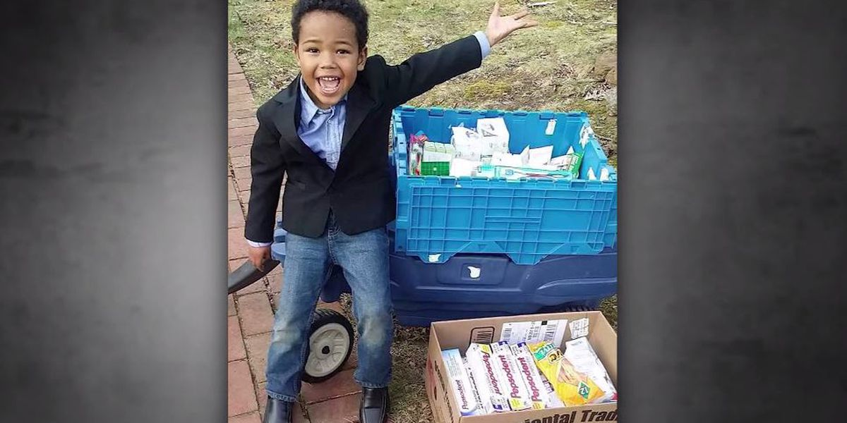 'It makes me feel very happy': 8-year-old boy raises more than $50,000 to help homeless veterans