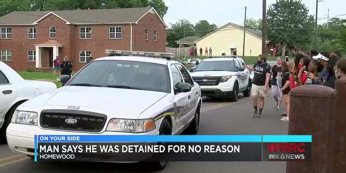 Man says he was detained after Homewood protest for no reason