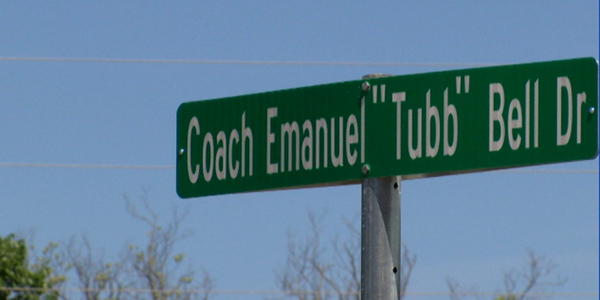 "Street named after the late Coach Emanuel ""Tubb"" Bell"