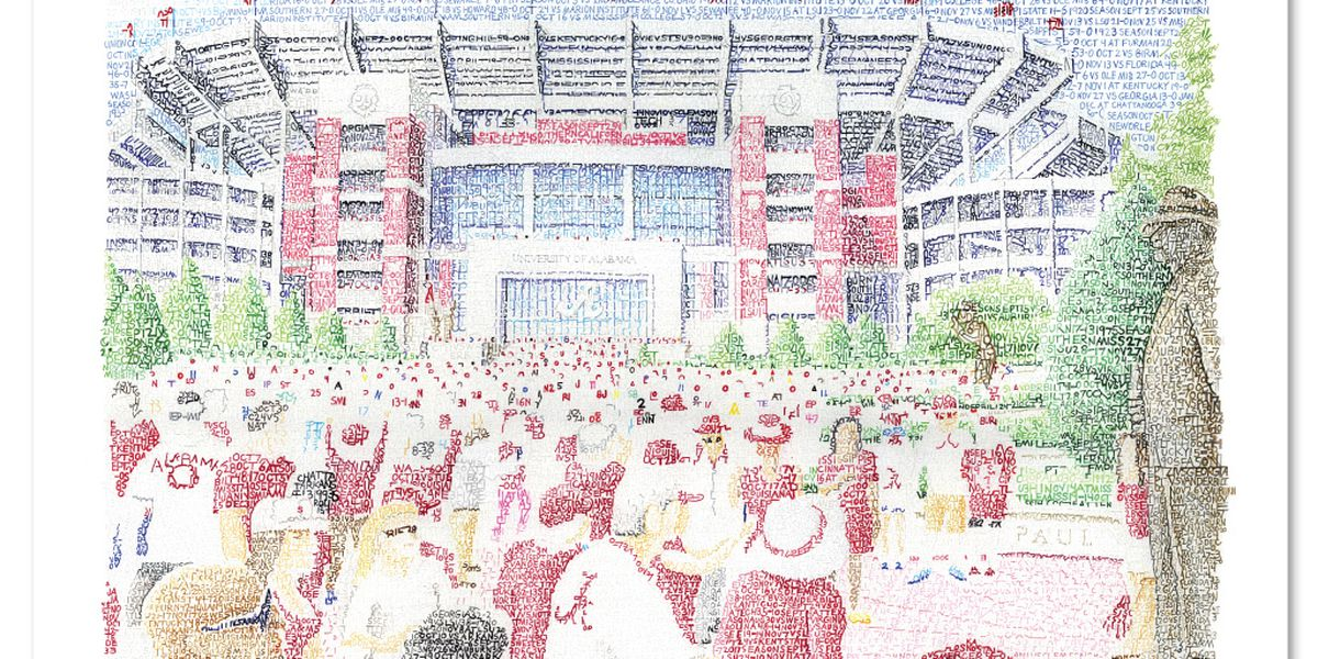A Bryant-Denny painting worth 1,000 words