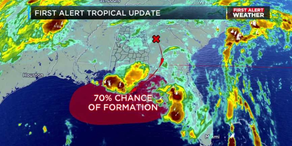 FIRST ALERT: Tropical development along the Gulf Coast looking likely