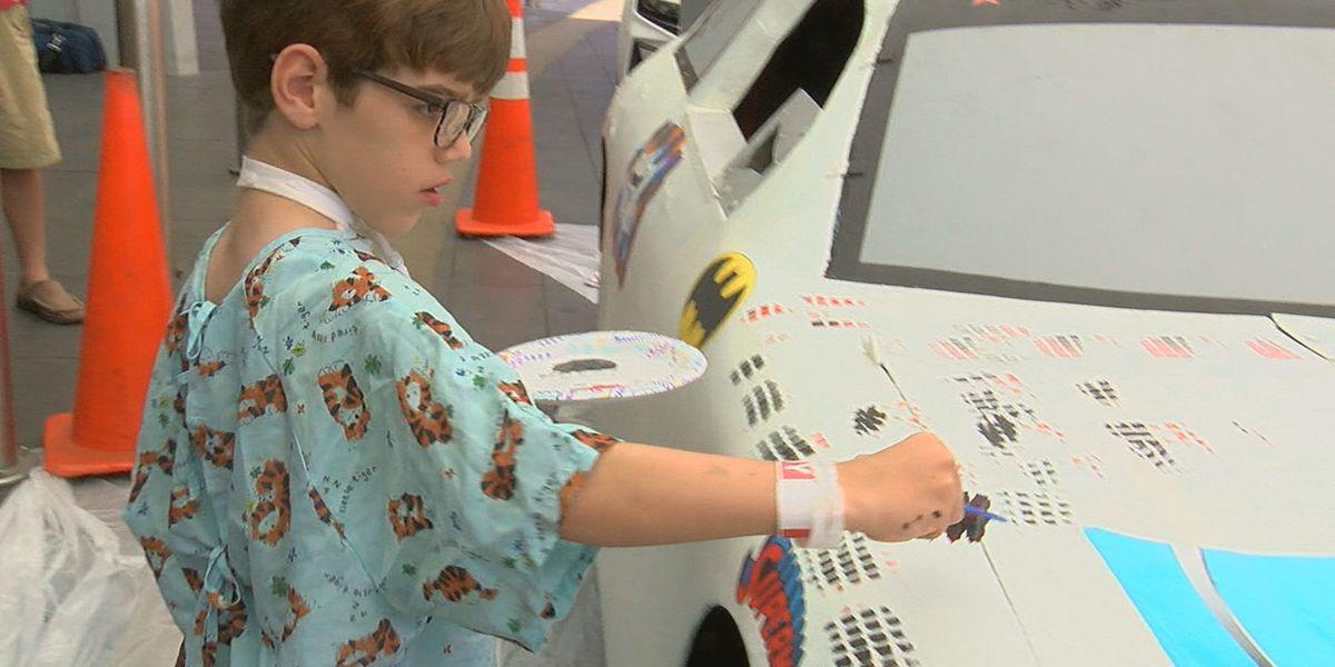 Children's Hospital patients paint Talladega race car