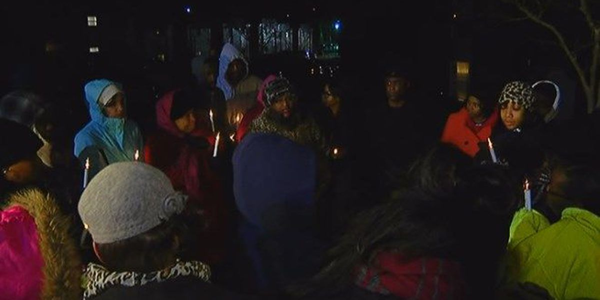 Loved ones brave the cold to remember murder victim