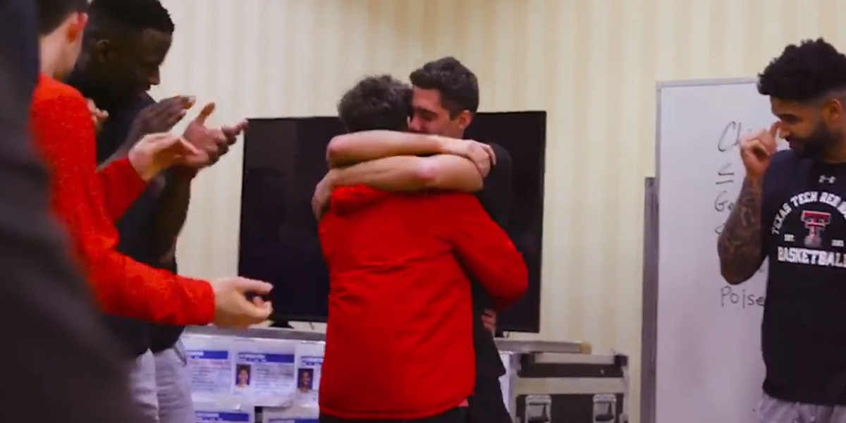 TTU Coach surprises player with family from Italy before Sweet 16 game