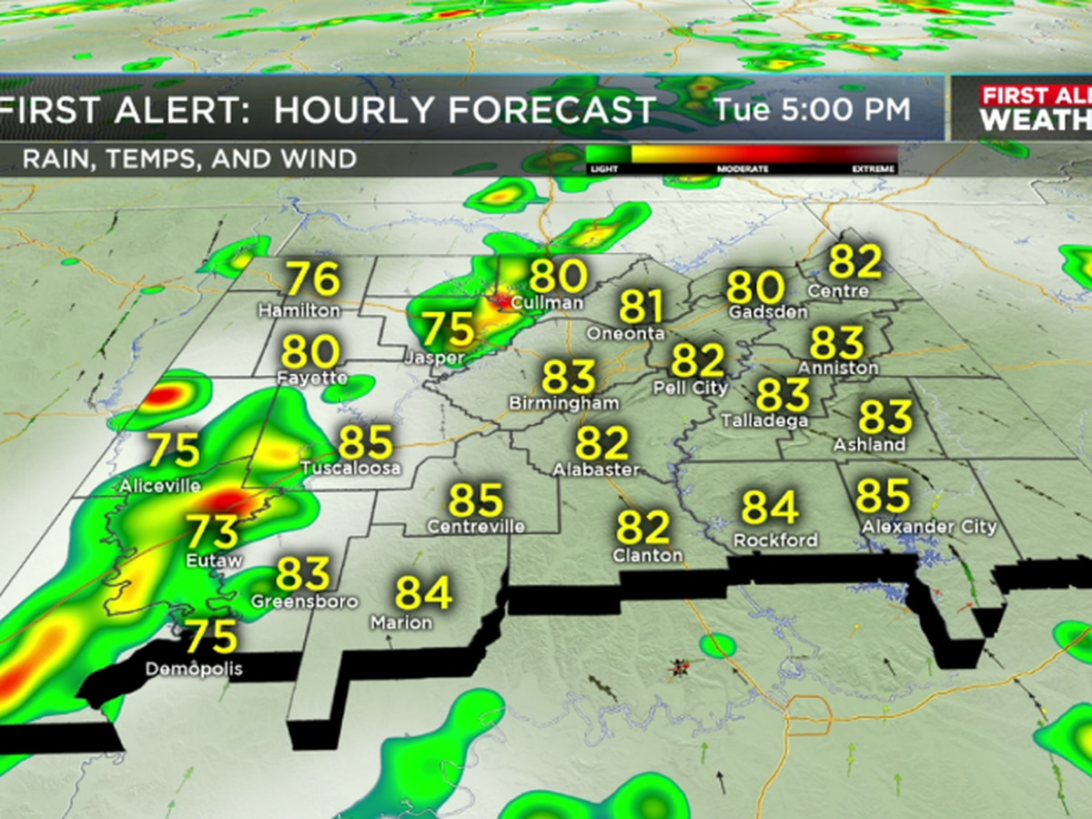 More scattered storms likely Tuesday afternoon