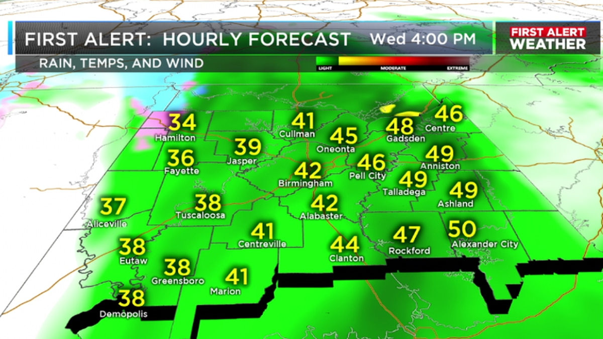FIRST ALERT: Increasing rain coverage this afternoon