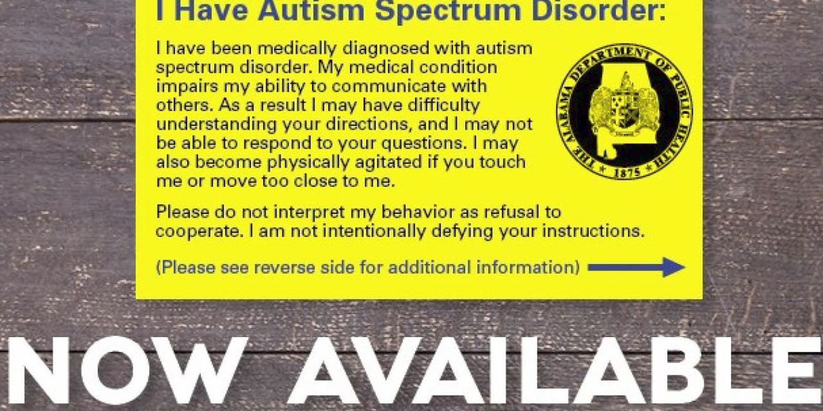 Cards help officers with autistic citizens
