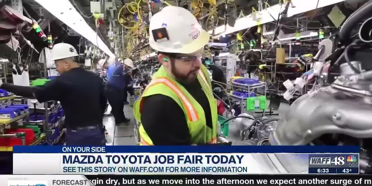 Mazda Toyota to hire more production team members, job fair kicks off Thursday