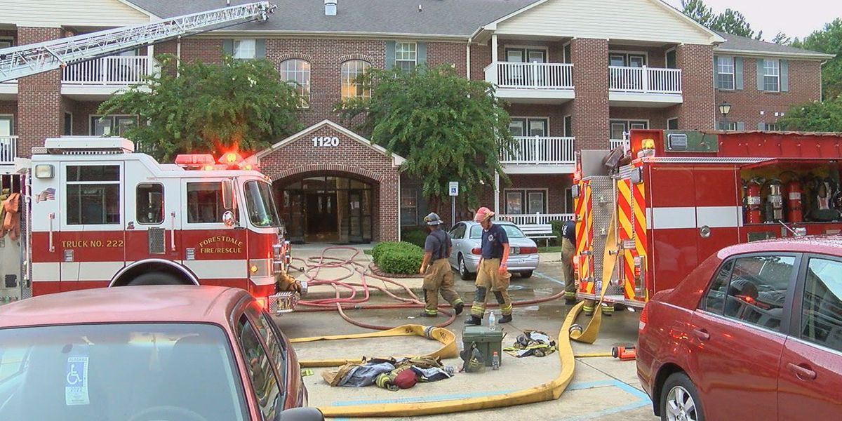 Lightning believed to have sparked fire at senior apartment complex