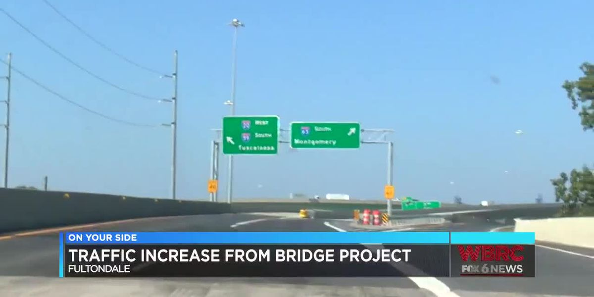 Traffic increase from I-59/20 bridge project
