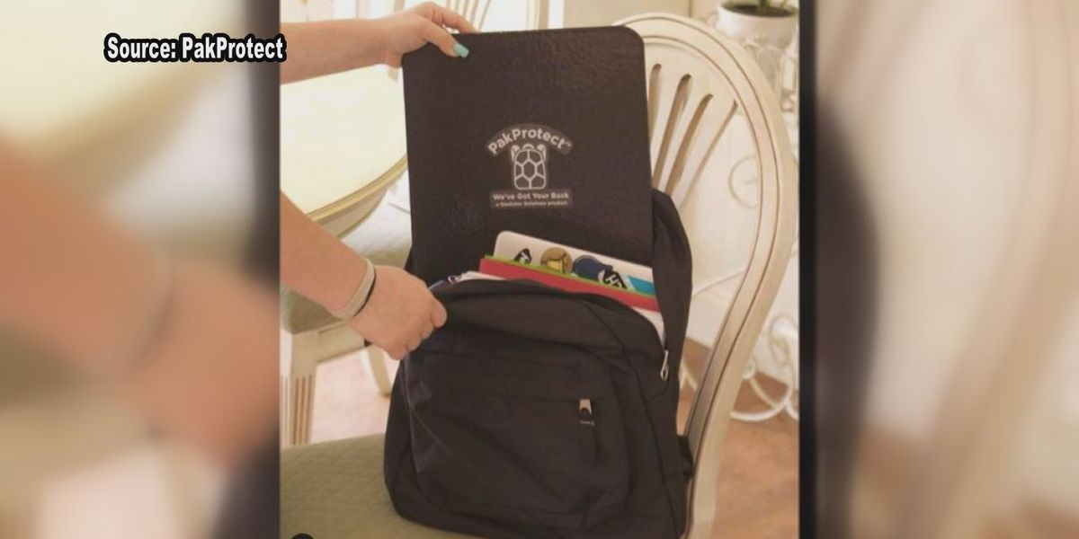 Founder explains how bulletproof insert in backpack could save your child's life