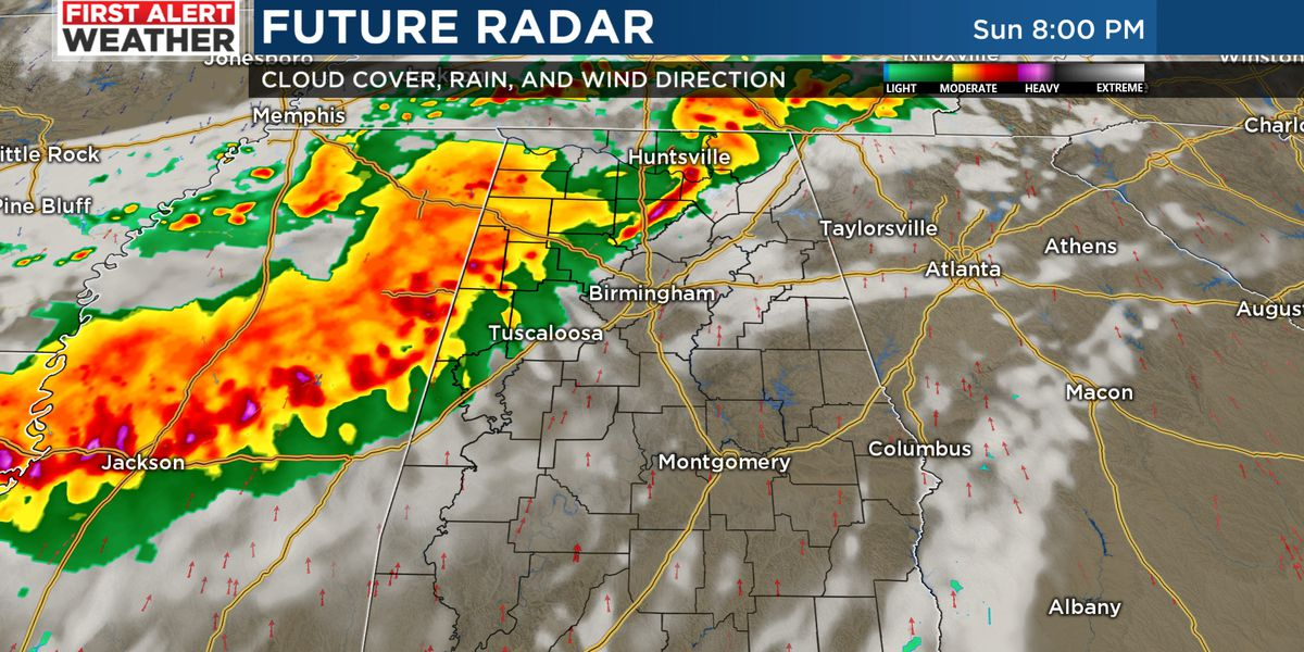 FIRST ALERT: Storms move southeast across the area Sunday evening; some may be severe with damaging wind gusts and hail