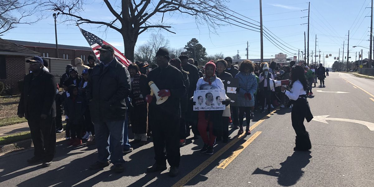 People march in Tuscaloosa to honor MLK