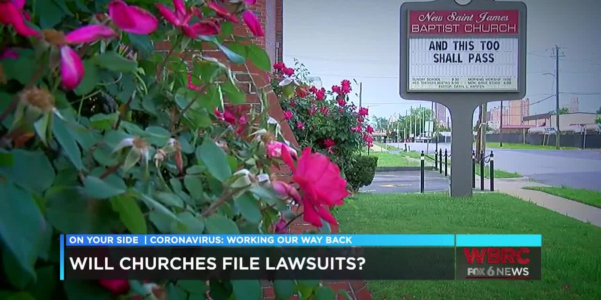 Push to open Alabama churches or possible lawsuits