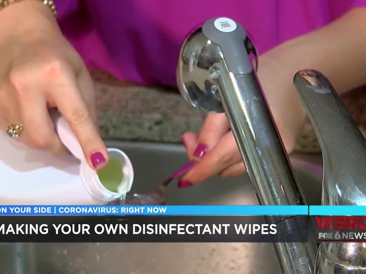 Here's how to make safe disinfectant wipes at home
