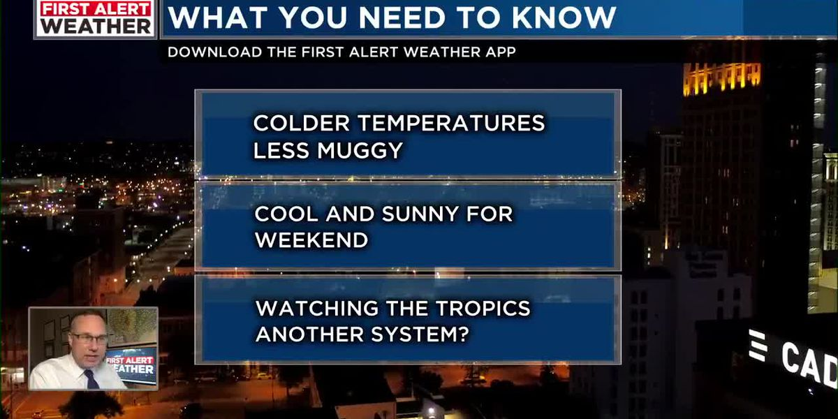 FIRST ALERT: Cooler temperatures are on the way