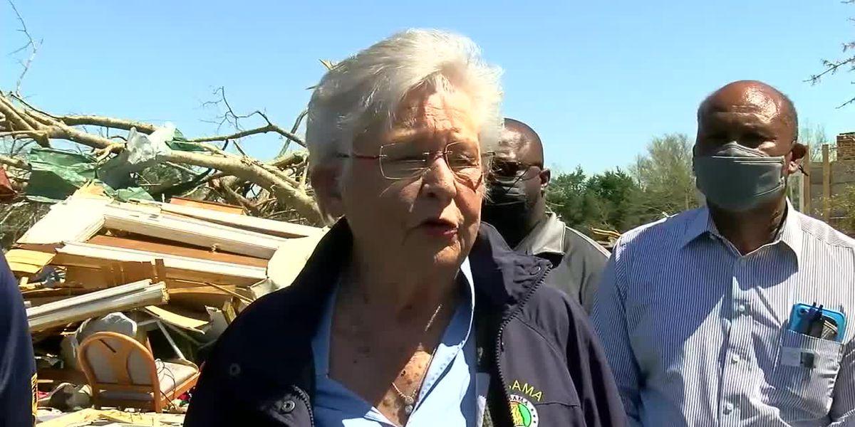 Governor Ivey tours tornado destruction around Alabama