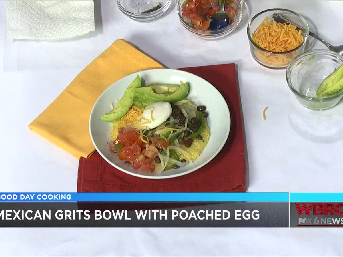 Jessica Ivey: Mexican Grits Bowl with Poached Egg