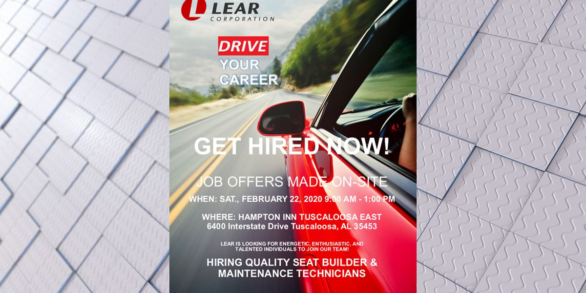 Mercedes supplier Lear Corporation hosting hiring event Saturday