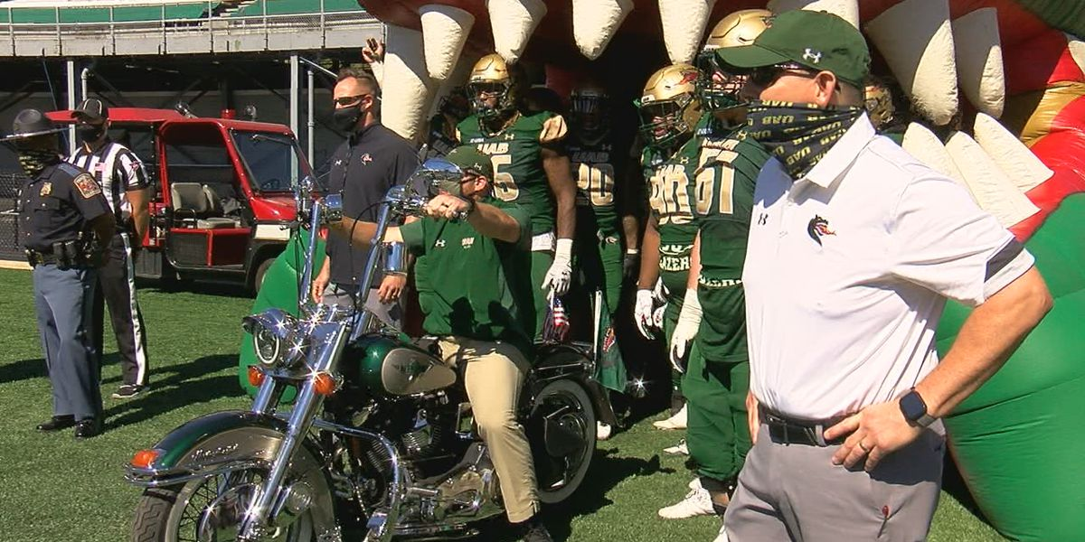 UAB's motorcycle man becomes part of game day tradition