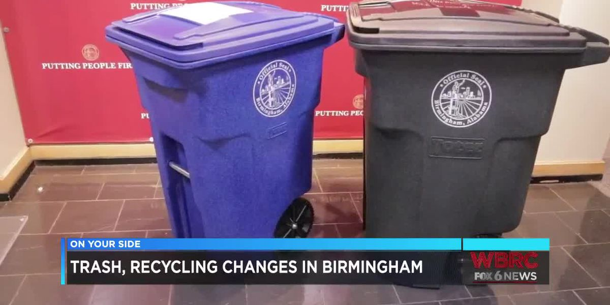 Trash and recycling changes in Birmingham