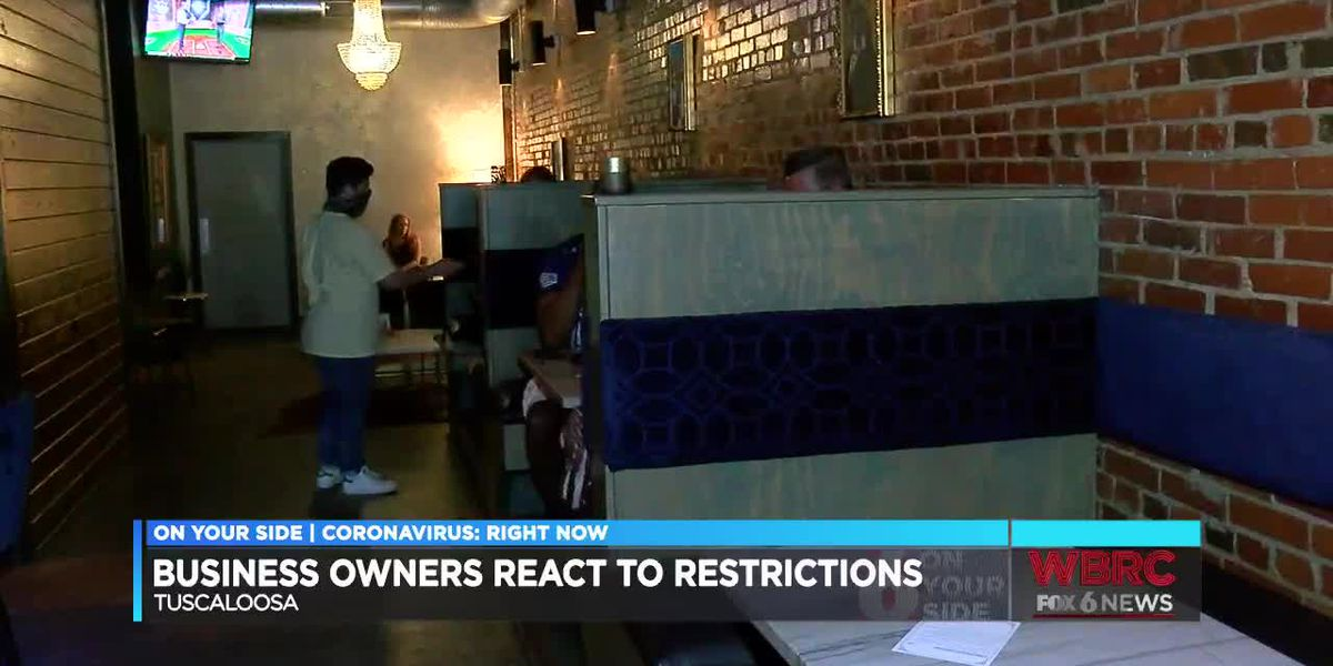 Tuscaloosa business owners react to restrictions