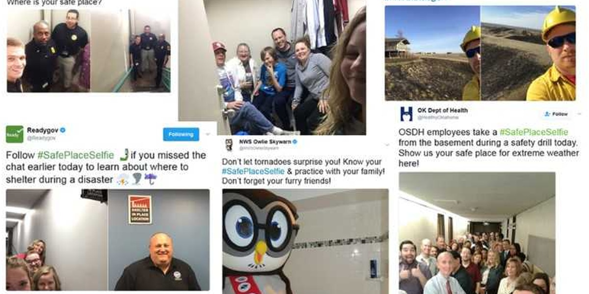 National Weather Service encourages you to take a #SafePlaceSelfie