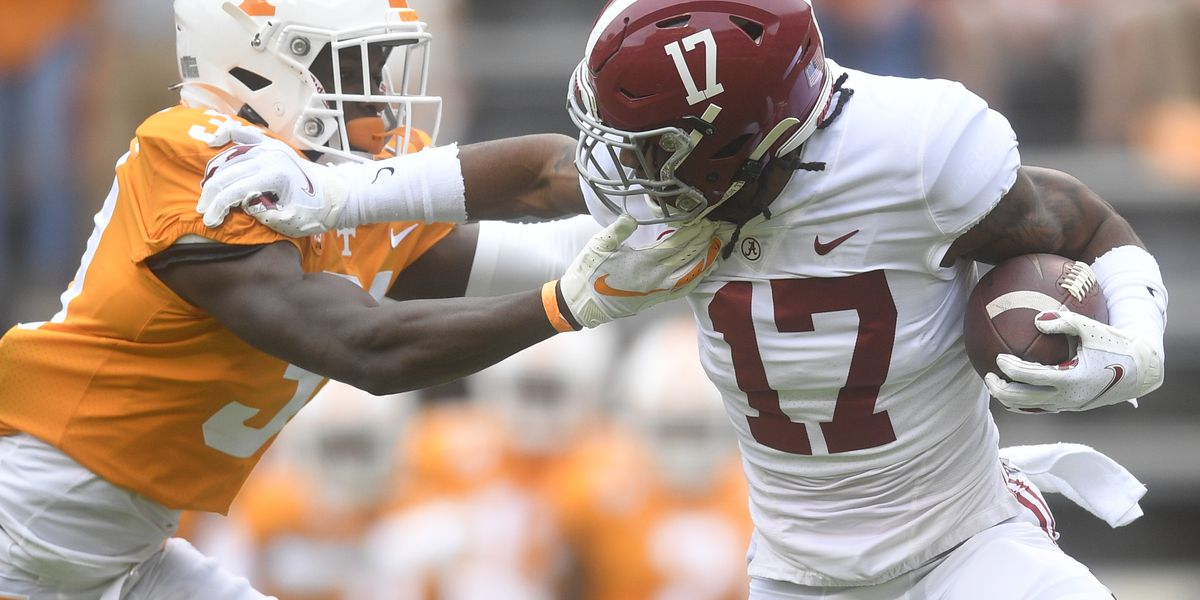 Alabama Wide receiver Jaylen Waddle out for the season following leg injury