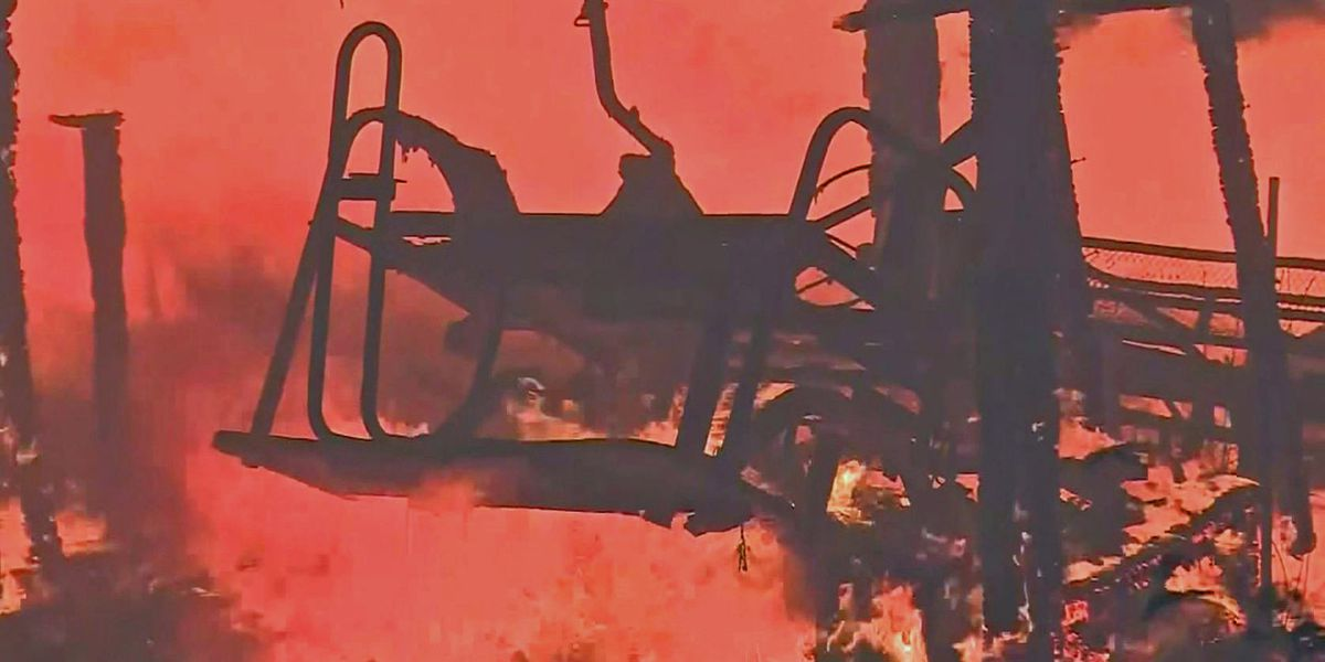 GRAPHIC: Woman survives CA mass shooting, loses home in wildfire