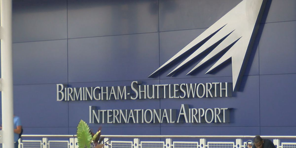 Flights departing from Birmingham ranked 7th least crowded in country